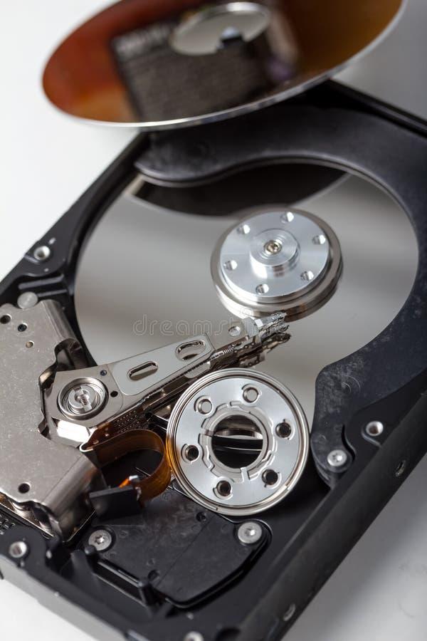 Pièces de disque dur d'ordinateur photographie stock libre de droits