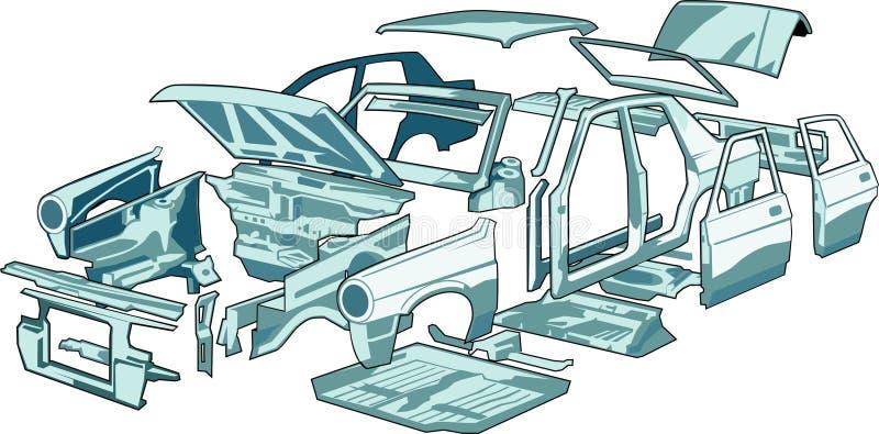 Pièces de garniture de véhicule illustration libre de droits