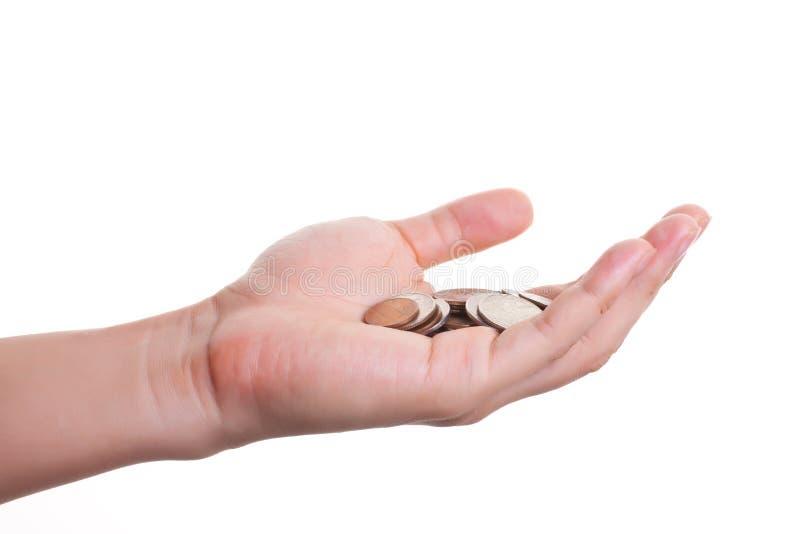 Pièces de monnaie à disposition images libres de droits