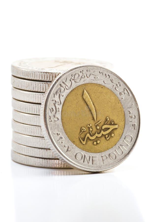 Pièces de monnaie égyptiennes photos libres de droits