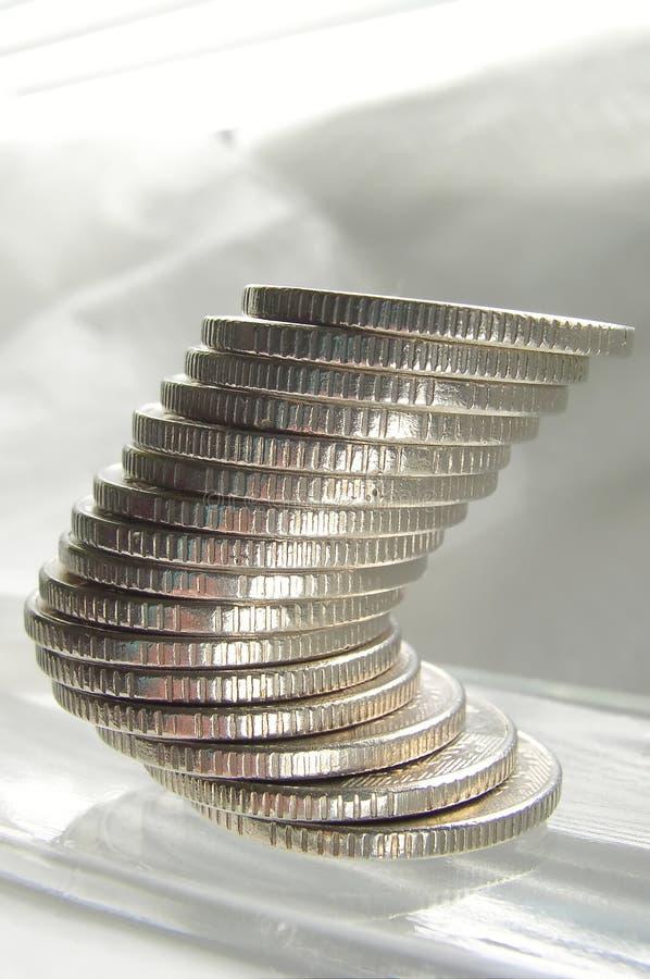 Pièces de monnaie - équilibre photos libres de droits