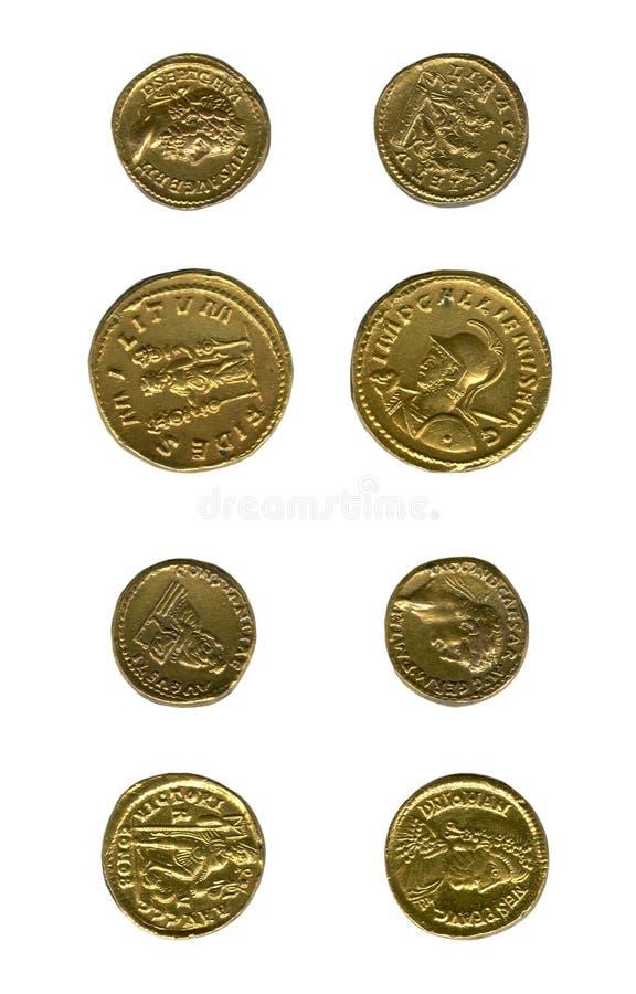 Pièces de monnaie antiques images libres de droits