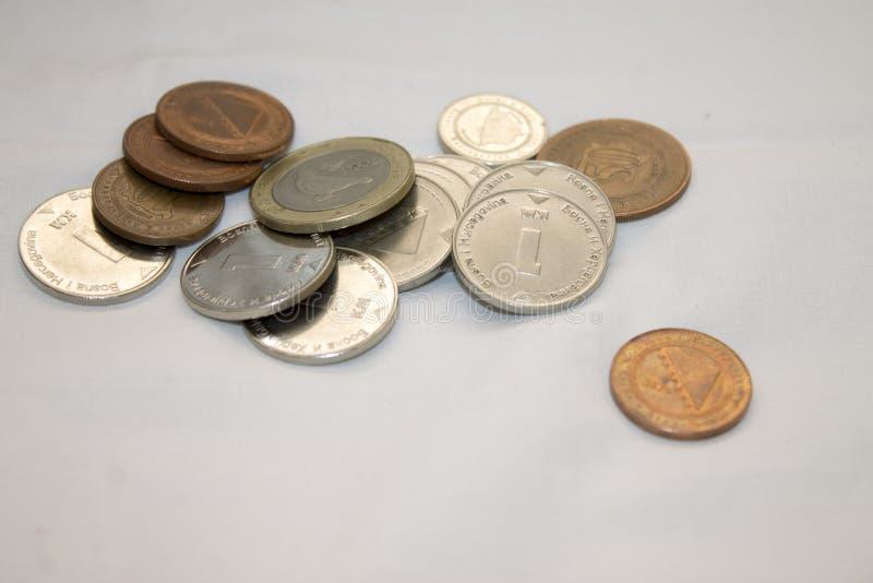 Pièces de monnaie bosniennes photos libres de droits