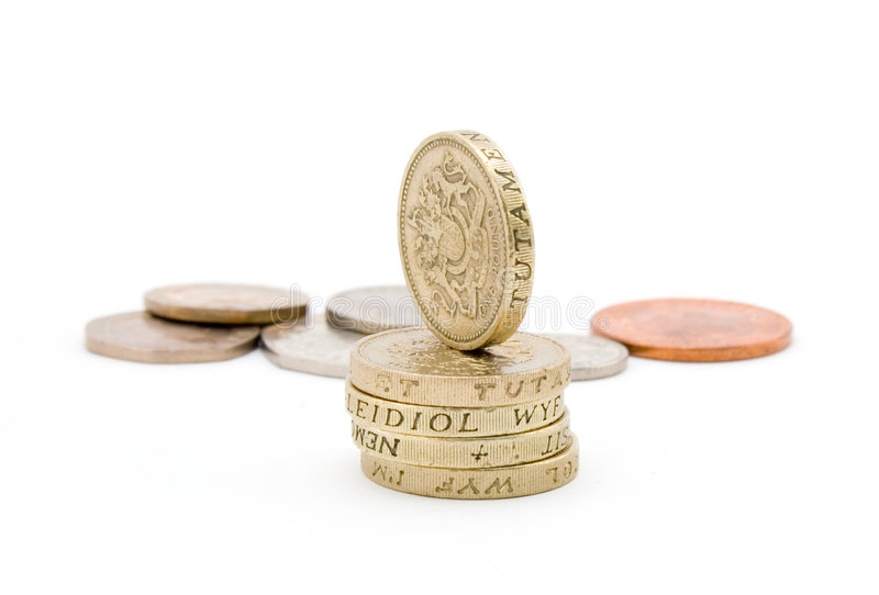 Pièces De Monnaie Britanniques Images libres de droits