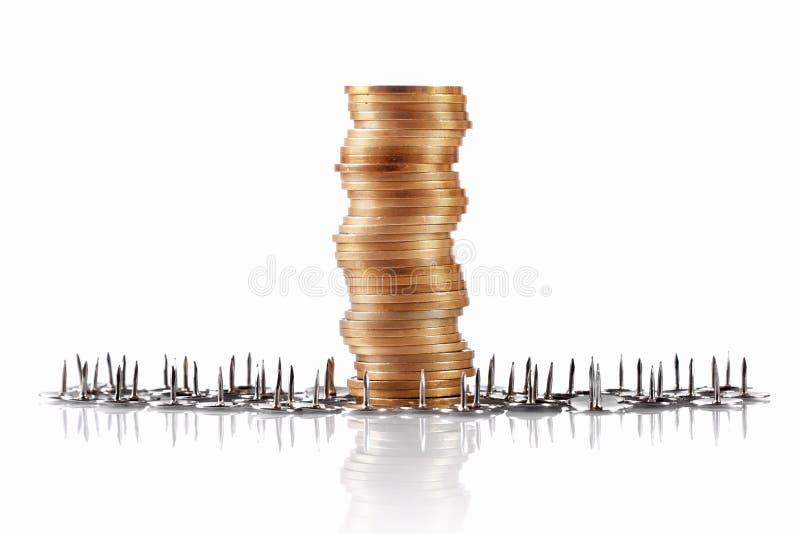 Pièces de monnaie, concept de garde