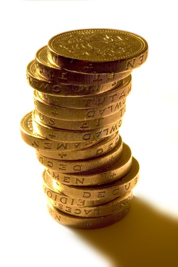 Pièces de monnaie d'£1 R-U photos libres de droits
