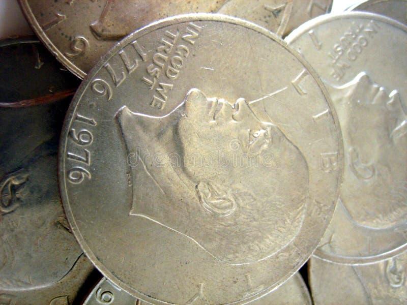 Pièces de monnaie d'Eisenhower photos libres de droits