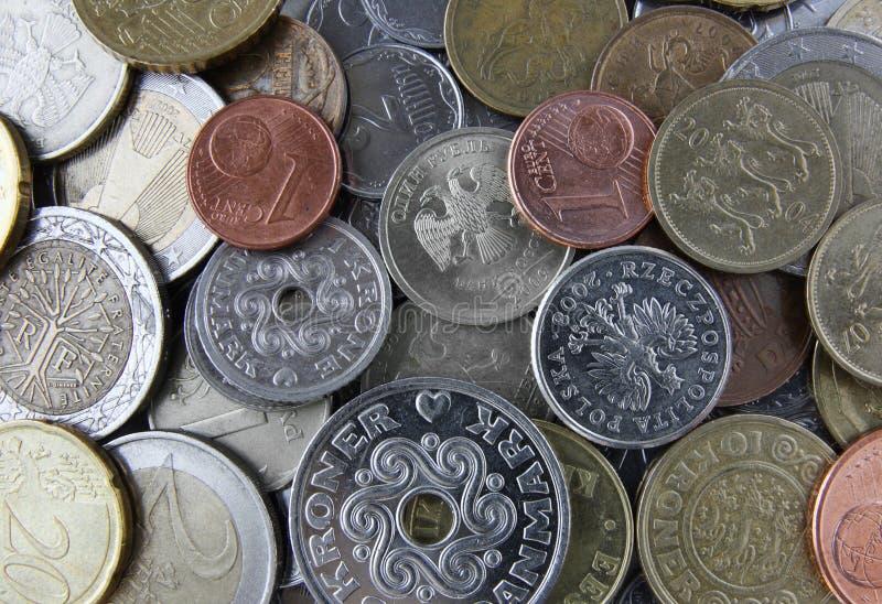 Pièces de monnaie de devise photos libres de droits