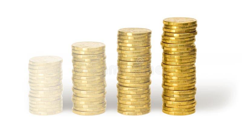 Pièces de monnaie de effacement de l'un dollar photos libres de droits