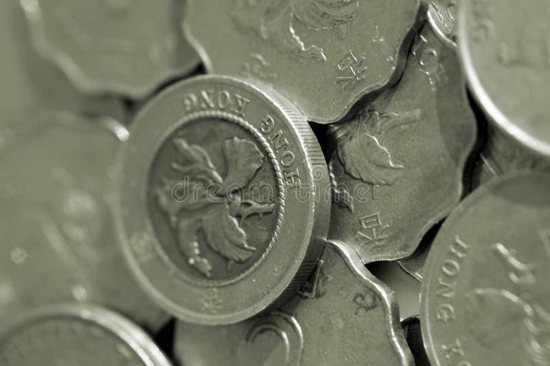 Pièces de monnaie de Hong Kong photo stock
