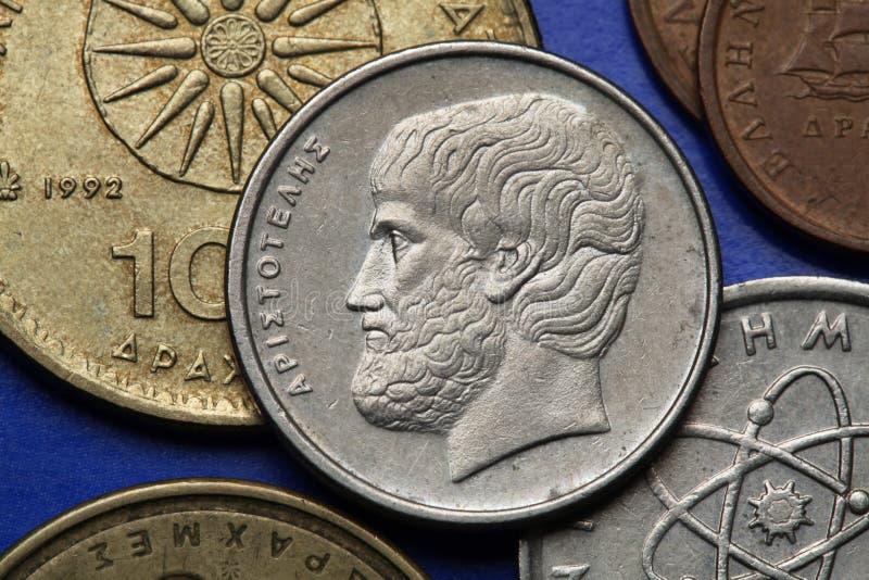 Pièces de monnaie de la Grèce photographie stock libre de droits
