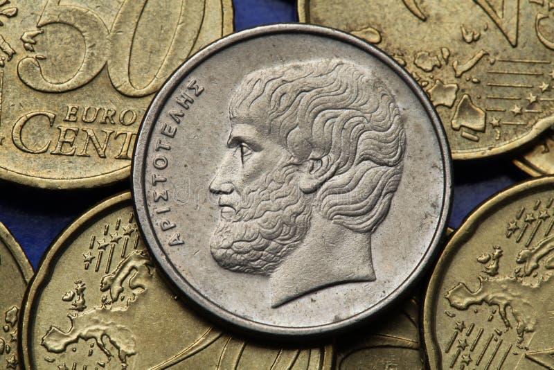Pièces de monnaie de la Grèce photo stock