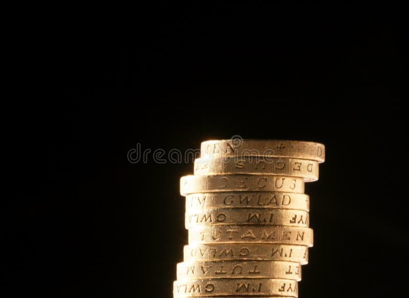 Pièces de monnaie de livre BRITANNIQUES photos stock