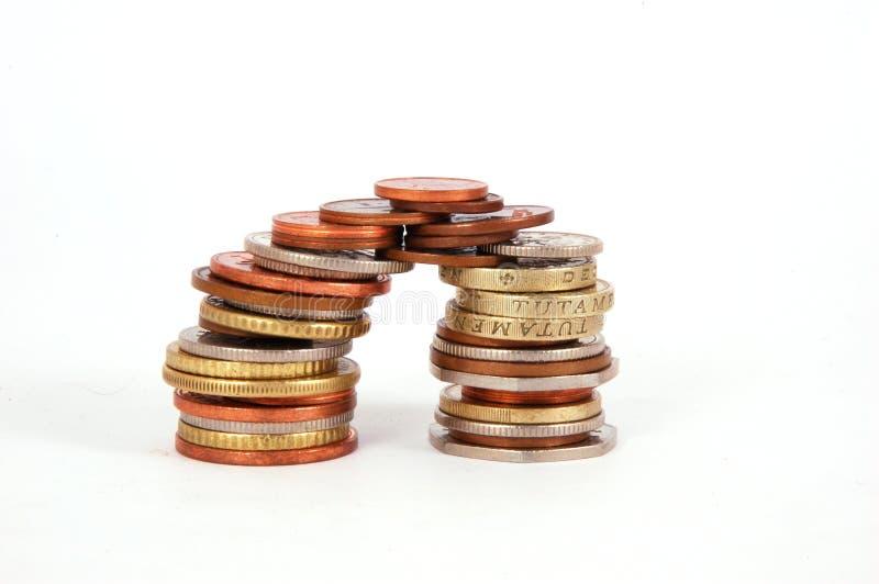 pièces de monnaie de passerelle images libres de droits