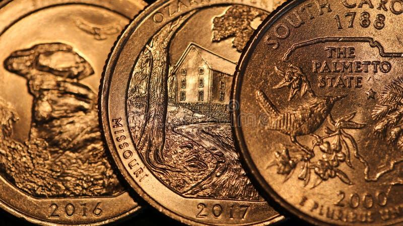 Pièces de monnaie des Etats-Unis image stock