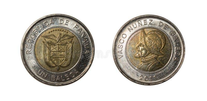 Pièces de monnaie du Panama photo libre de droits