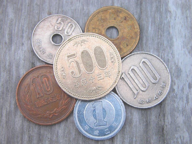 Pièces de monnaie japonaises images libres de droits