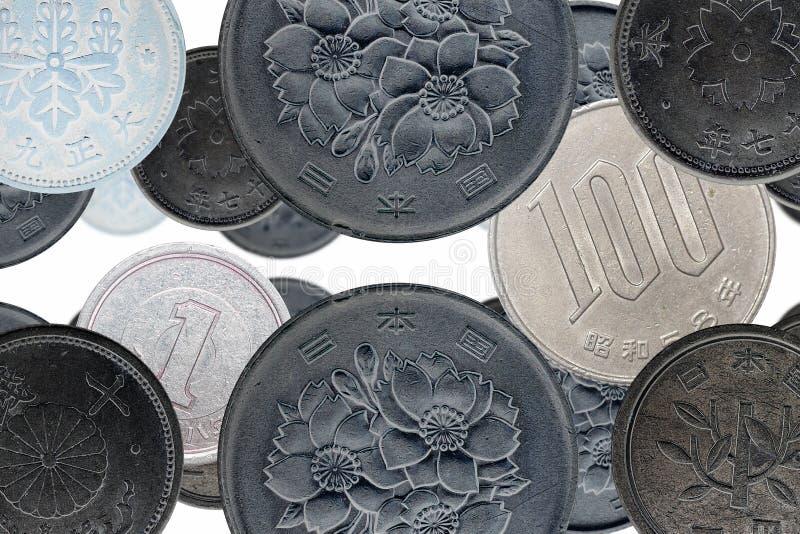Pièces de monnaie japonaises photos stock
