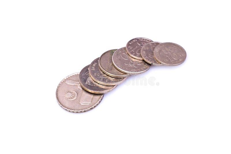 Pièces de monnaie malaisiennes photo stock