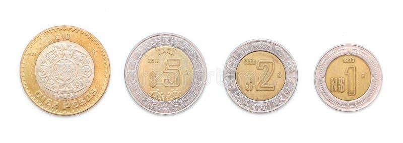Pièces de monnaie mexicaines photos libres de droits