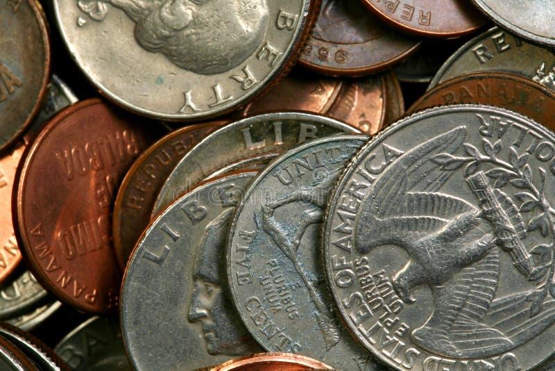 Pièces de monnaie multiples images libres de droits