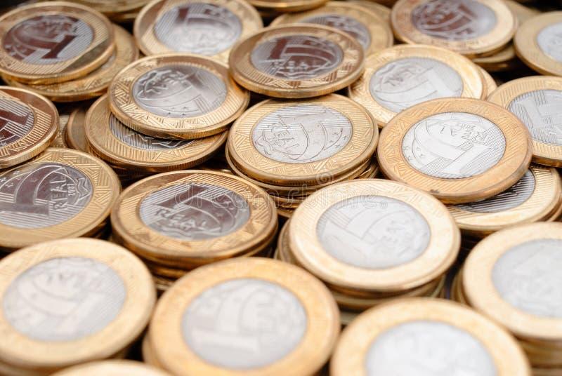 Pièces de monnaie réelles image libre de droits