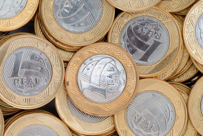 Pièces de monnaie réelles photos libres de droits