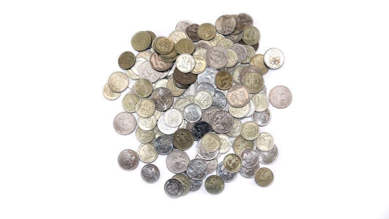 Pièces de monnaie russe en roubles de fer photo libre de droits