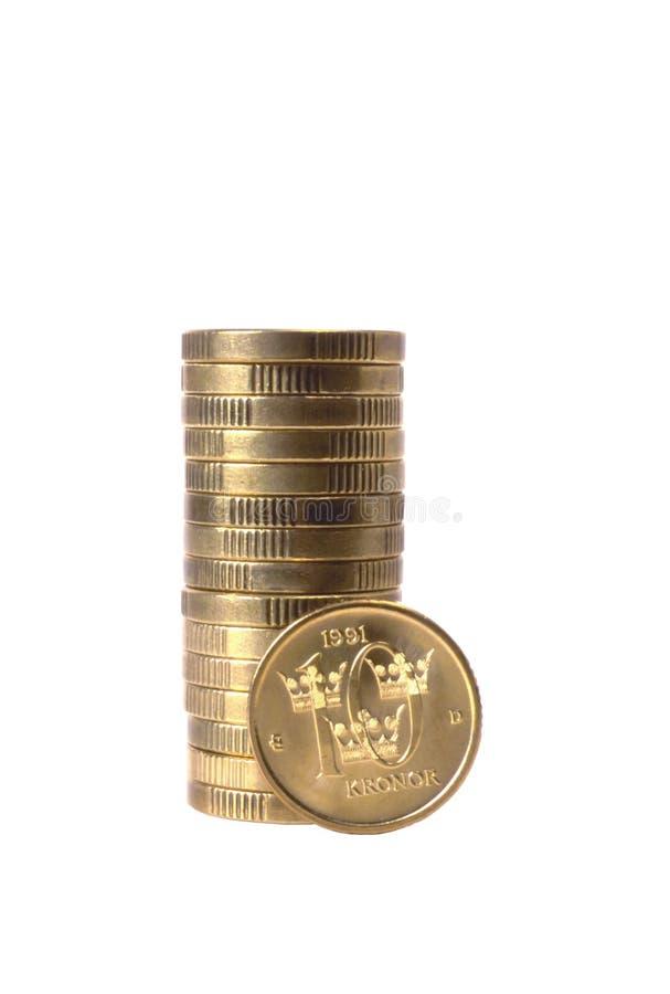 Pièces de monnaie suédoises images libres de droits
