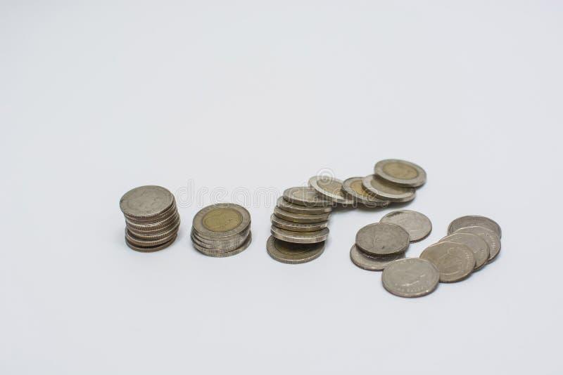 Pièces de monnaie thaïlandaises de bain images libres de droits