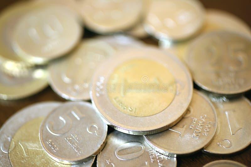 Pièces de monnaie turques de Lire photographie stock