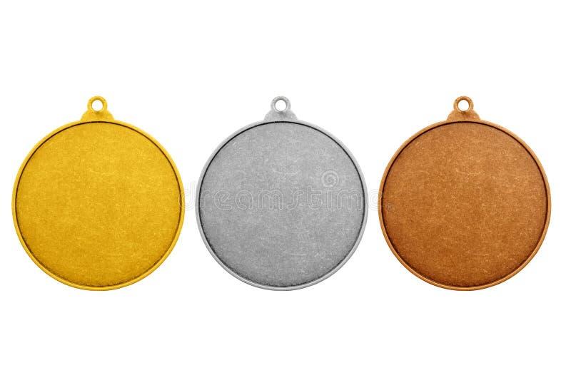 Pièces de monnaie vides, couleur de médailles de jeux images libres de droits