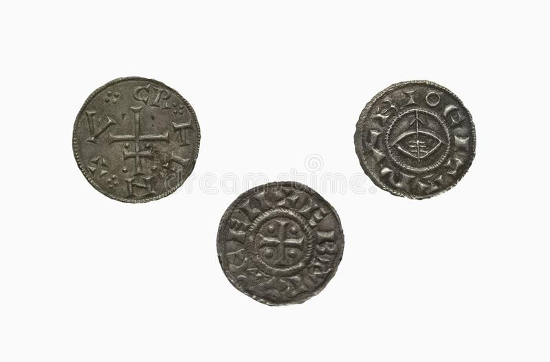 Pièces de monnaie de Viking images libres de droits