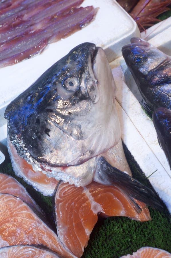 Pièces de poissons sur le marché image libre de droits