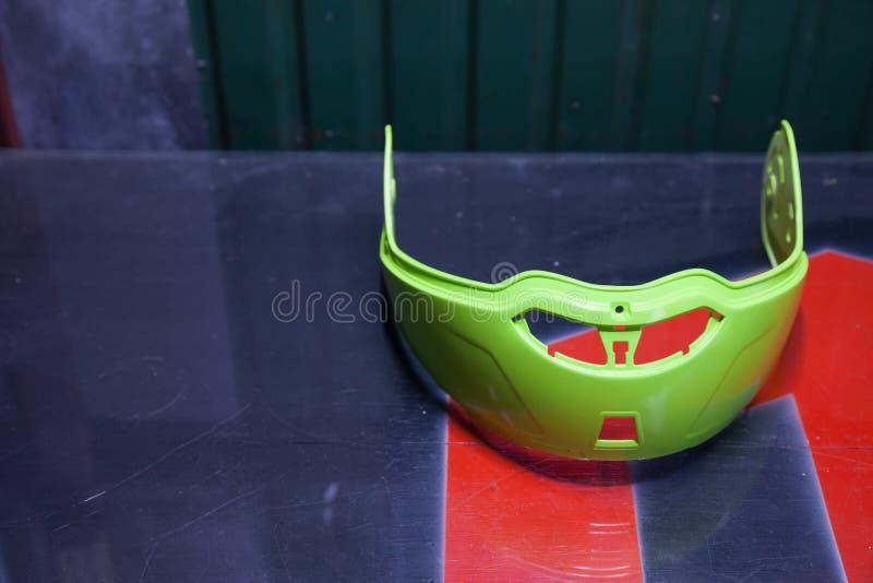 Pièces de rechange de casque de moto photographie stock libre de droits