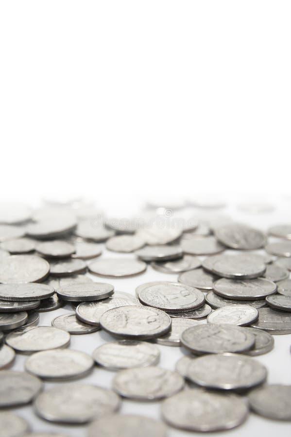 Pièces en argent photographie stock libre de droits