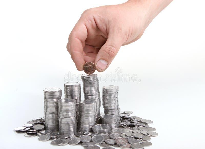 Pièces en argent photo libre de droits