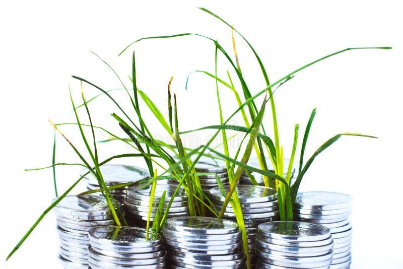 Pièces en argent, finances image stock