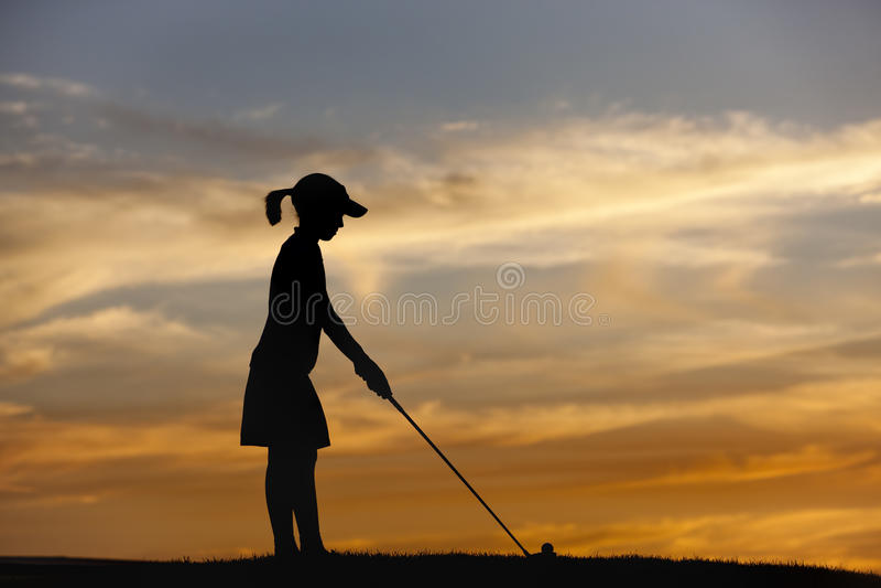 Pièces en t silhouettées de fille. photos libres de droits
