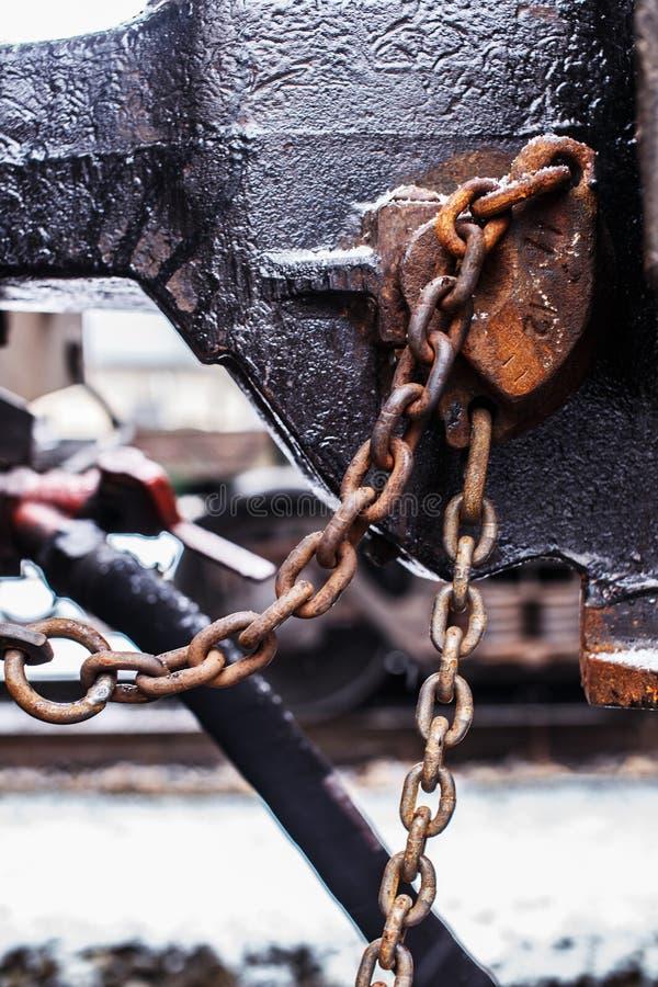 Pièces industrielles de chariot ferroviaire images libres de droits