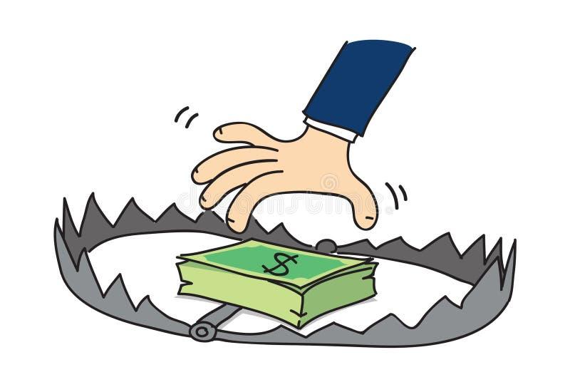 Piège d'argent de bande dessinée, vecteur illustration de vecteur