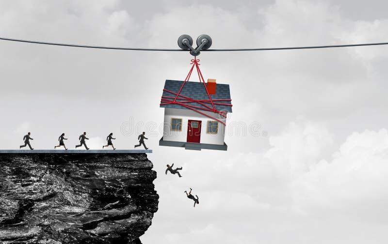 Piège d'immobiliers illustration libre de droits