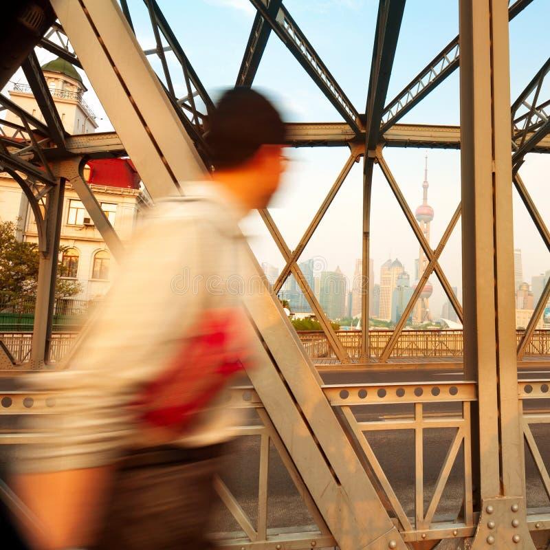 Piétons et Changhaï images libres de droits