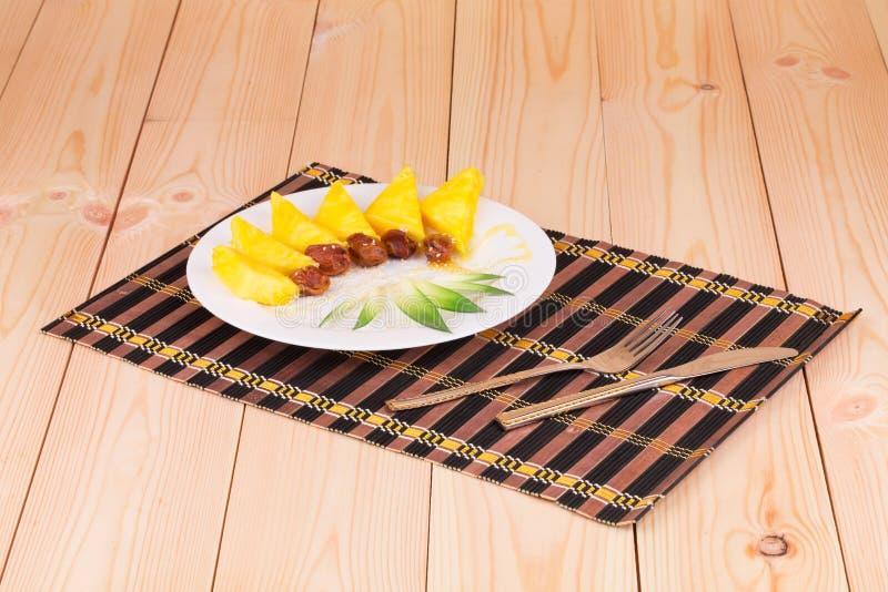 Piña fresca de las frutas tropicales imagen de archivo