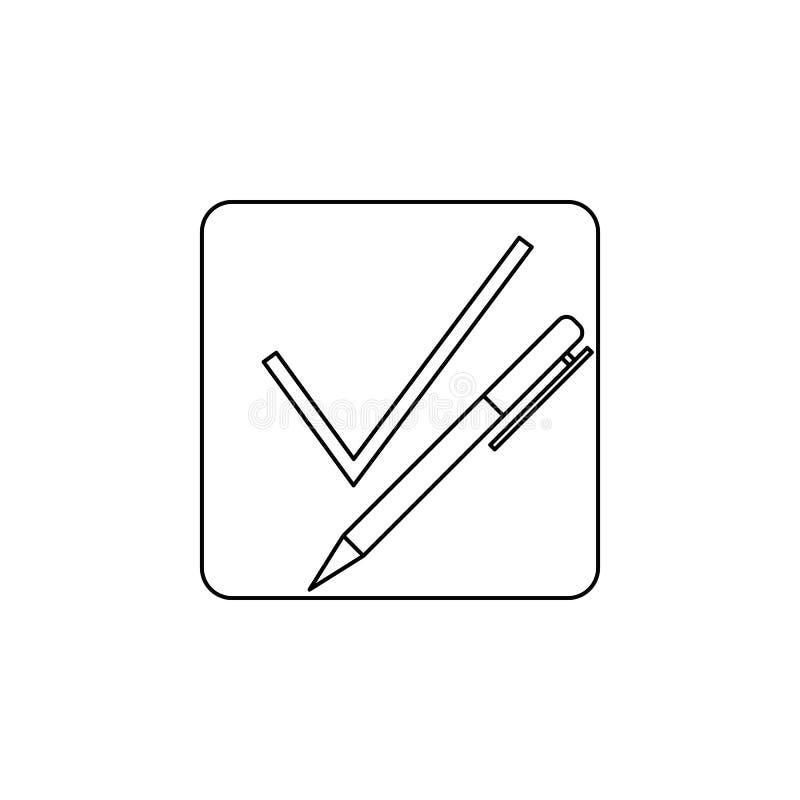 pióra prześcieradło z kleszczową ikoną Elementy wybory ikona Premii ilości graficzny projekt Znaki i symbol inkasowa ikona dla we ilustracja wektor