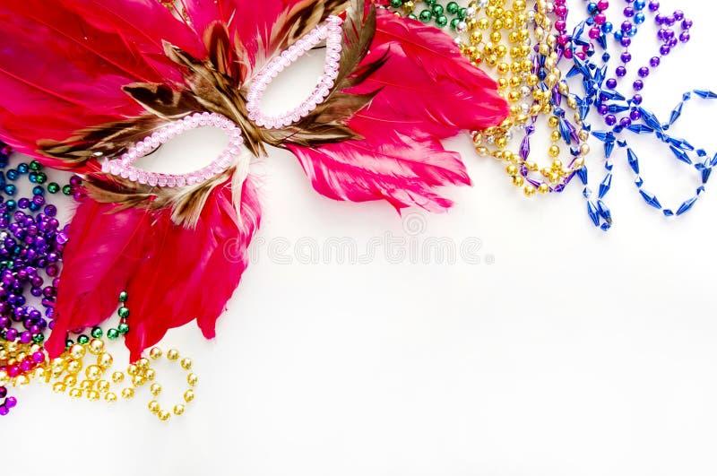 piórkowa gras mardi maska zdjęcia royalty free