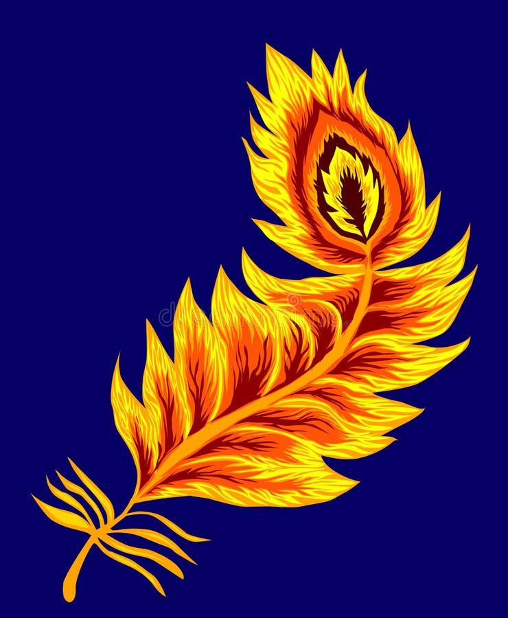 piórkowy feniks royalty ilustracja