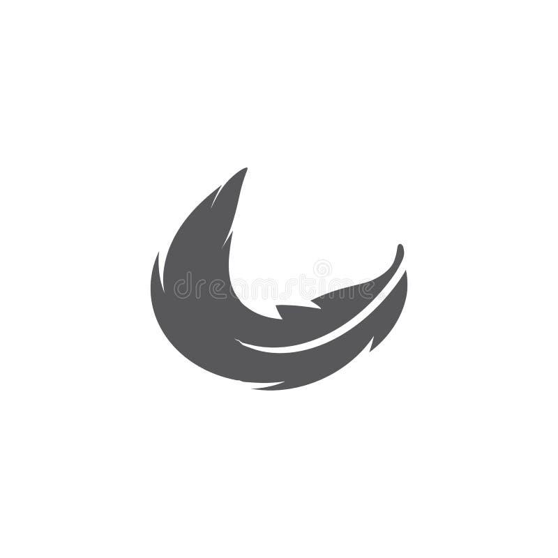 Piórkowy ilustration logo wektor ilustracja wektor
