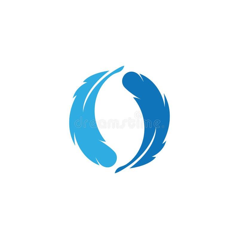 Piórkowy ilustration logo wektor ilustracji