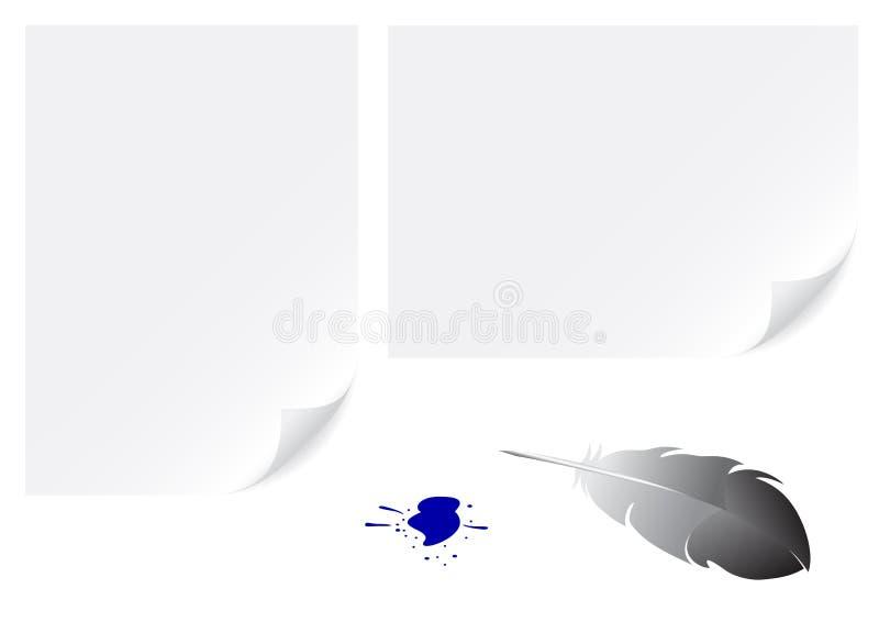 piórkowy papier ilustracja wektor